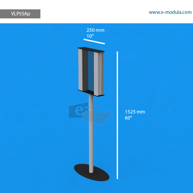 """VLP5SAp - 10"""" width by 60"""" height"""