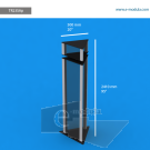 """TR23SAp - 20"""" width by 95"""" height"""