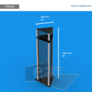 """TR28SAp - 24"""" width by 95"""" height"""