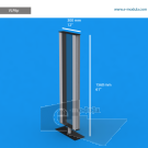 """VLP8p - 12"""" width by 61"""" height"""
