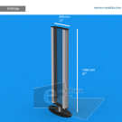 """VLP8SAp - 12"""" width by 61"""" height"""
